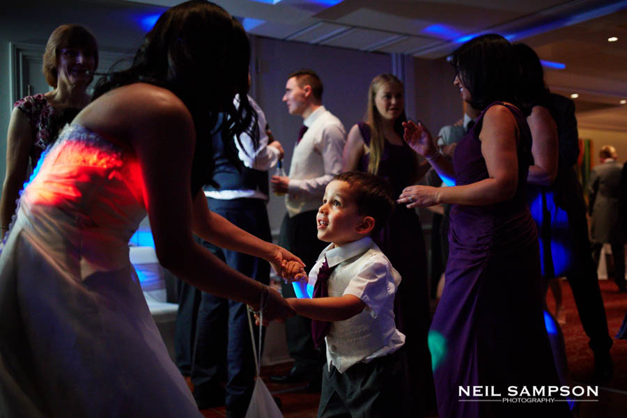 The bride dances with a page boy at Sopwell House