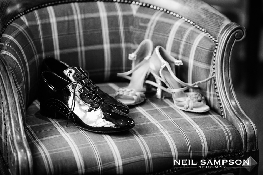 Wedding shoes on a chair