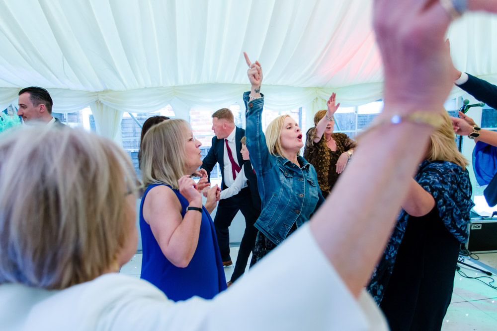 The dancing at a wedding